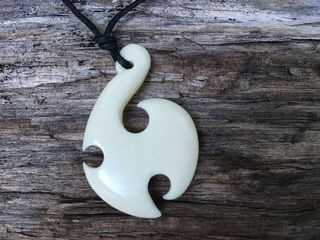 Bone Carving Pendant #75009