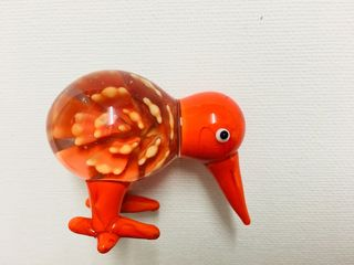 Handmade glass kiwi come with box