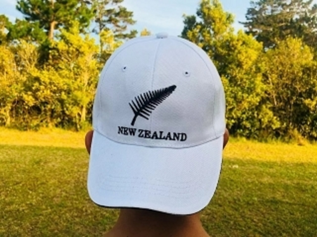 NZ Fern Cap - White 100% Cotton